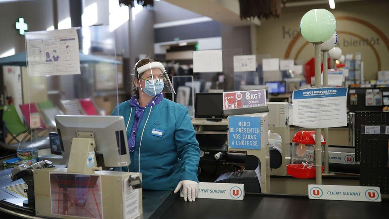 Après la forte hausse du confinement, les ventes des supermarchés reviennent à la normale.