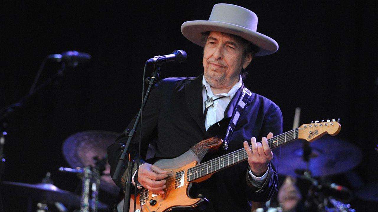 Bob Dylan lors de son passage en France au festival des Vieilles Charrues en 2012.