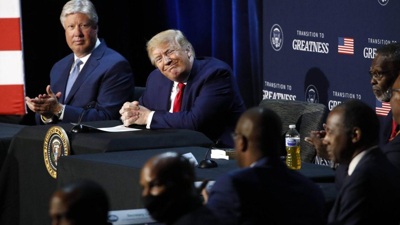 Coronavirus oblige, Donald Trump n'a pas tenu, depuis plus de trois mois, de meeting électoral en vue de la présidentielle de novembre.