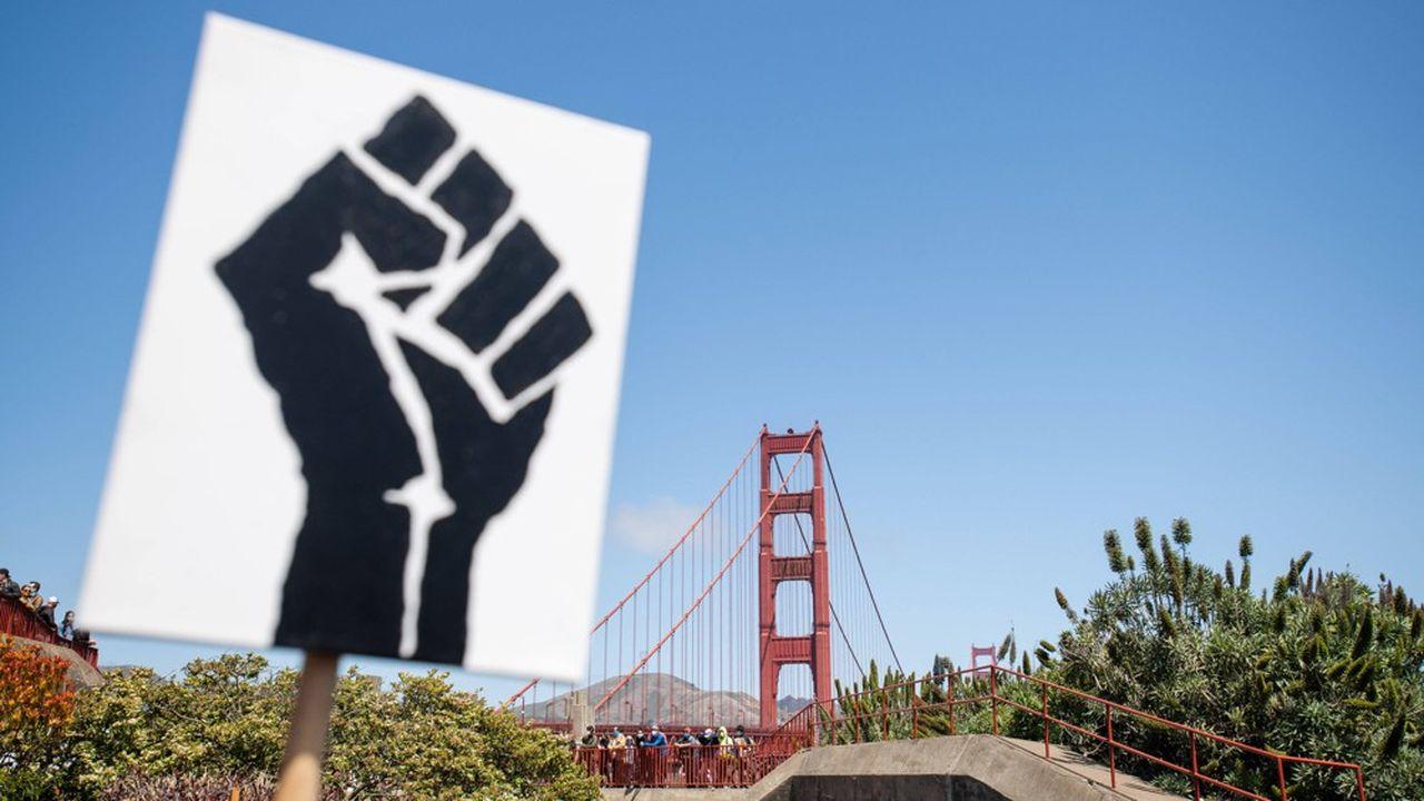 Le 6juin dernier, après la mort de George Floyd, des manifestations ont eu lieu partout aux Etats-Unis. Y compris à San Francisco où le mouvement questionne le peu de représentativité d'Afro-Américains au sein de la Silicon Valley.