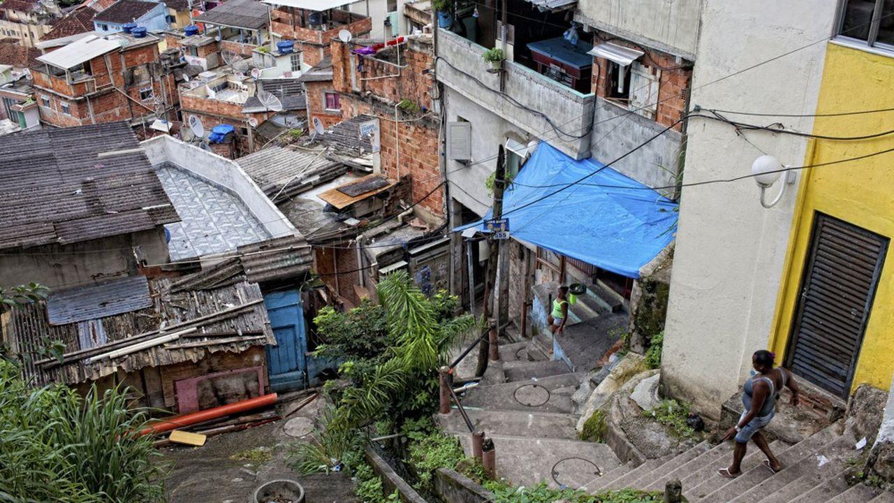 La favela Santa Marta à Rio.