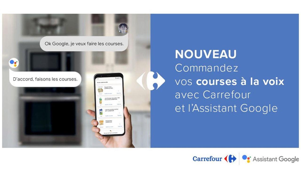 Carrefour a branché l'offre de son site Internet marchand sur l'assistant Google.