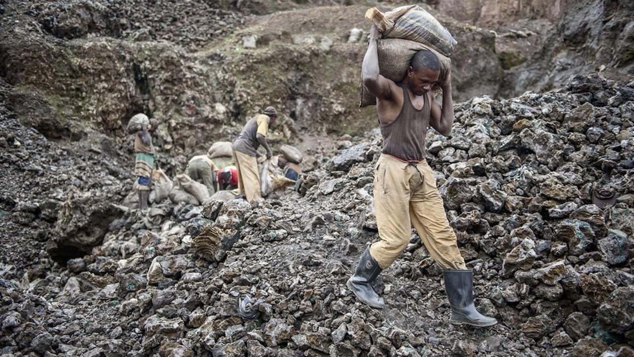 Une mine artisanale de cobalt en République démocratique du Congo.