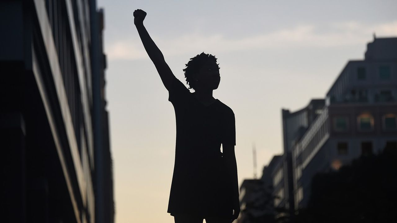 Une manifestante près de la Maison-Blanche à Washington, le 7 juin 2020.