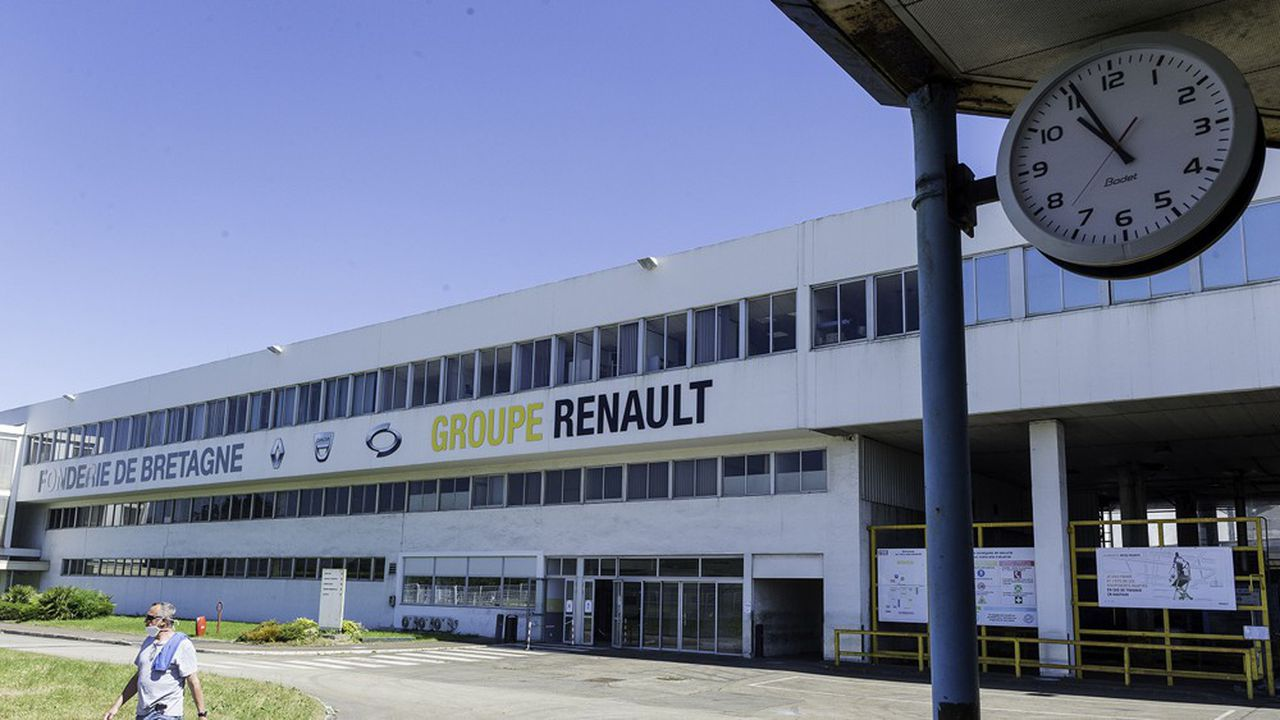 Quatre sites de Renault sont menacés par le constructeur, dontla Fonderie de Bretagne à Caudan, près de Lorient (Morbihan).