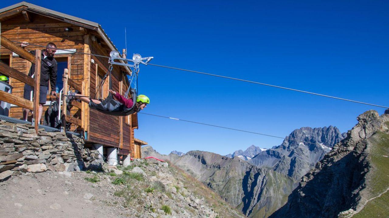 Descente en tyrolienne avec Roll'Air à Orcières