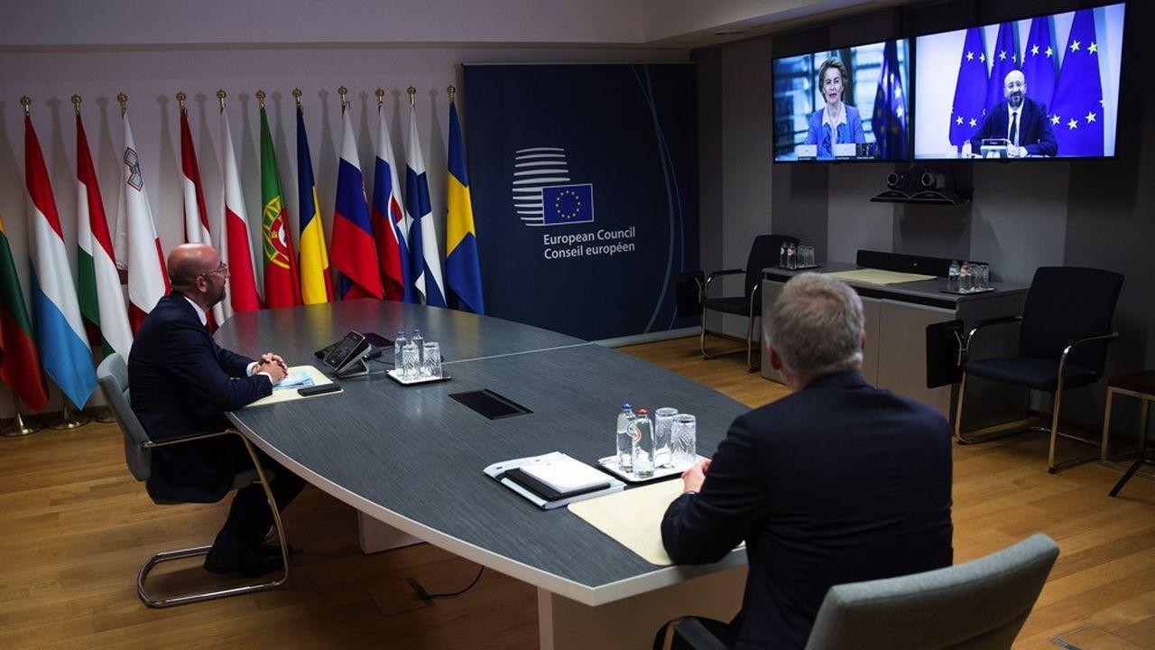 Le président du conseil européen Charles Michel , le 15 juin 2020.