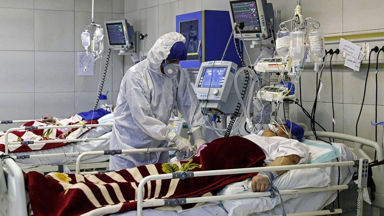 Les patients iraniens, comme ici dans un hôpital de Téhéran, encourent un risque élevé de mortalité.