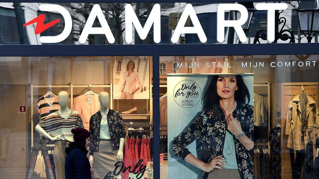 Les 170 boutiques Damart (ici un point de vente à Bruxelles), qui pèsent la moitié de l'activité du groupe, ont dû fermer plusieurs mois en raison de la crise sanitaire.