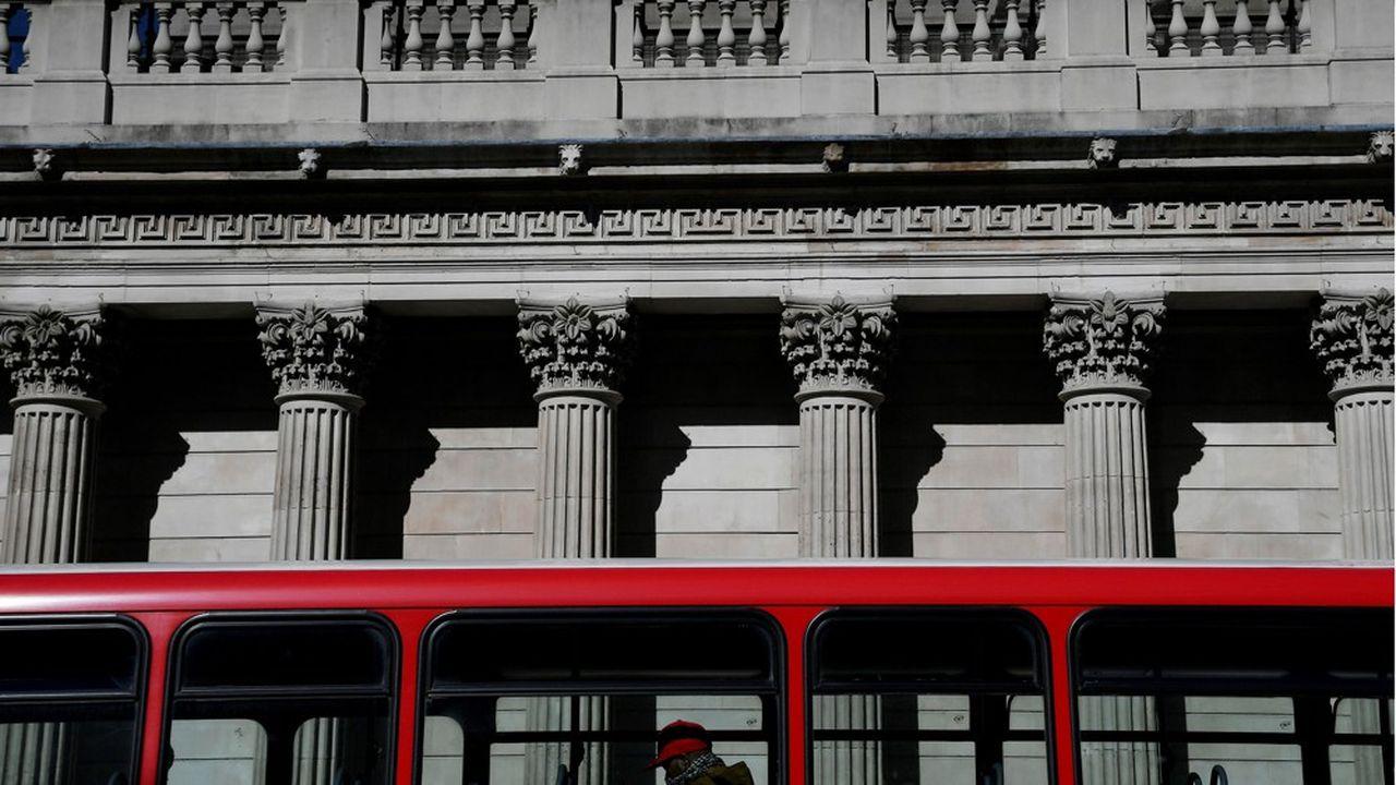 La façade du bâtiment de la Banque d'Angleterre, dans le quartier londonien de la City.