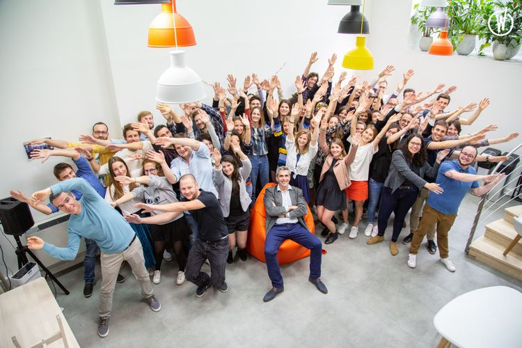 L'équipe de Lucca, une scale-up spécialisée dans les logiciels pour les ressources humaines.