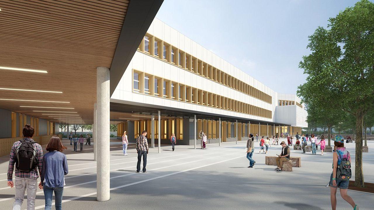 Le collège intercommunal de Valenton doit accueillir, si tout va bien, 700 élèves à la rentrée 2021.