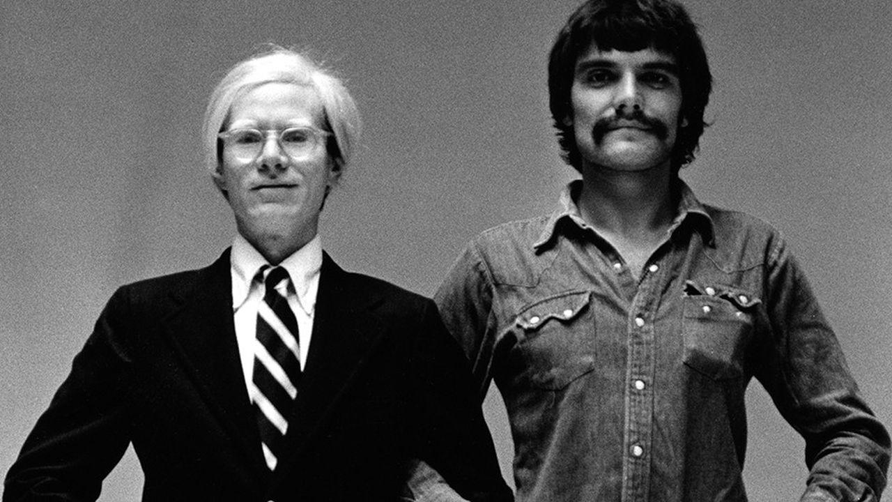 Toscani avec Andy Warhol. Cliché pris à New York, en 1974.
