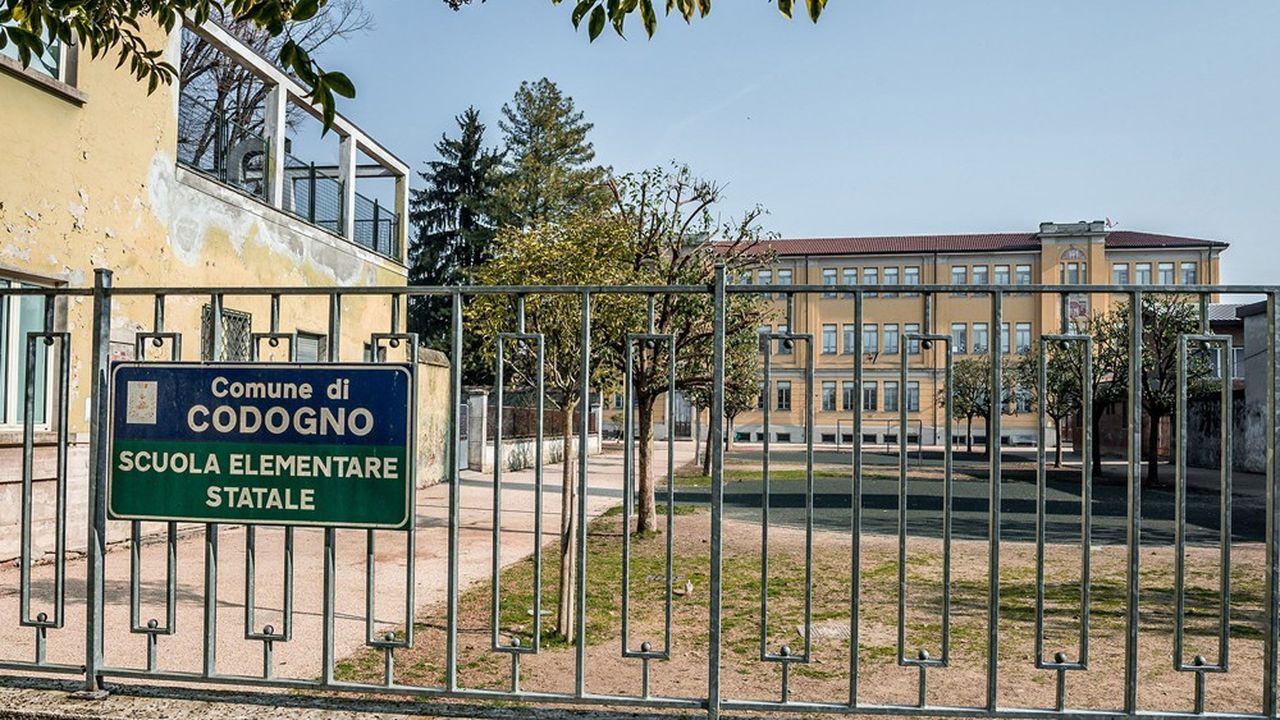 En Italie, ici à Codogne, les écoles resteront fermées jusqu'en septembre.
