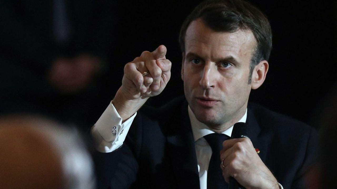 Emmanuel Macron à la Convention citoyenne pour le climat, le 10janvier dernier.