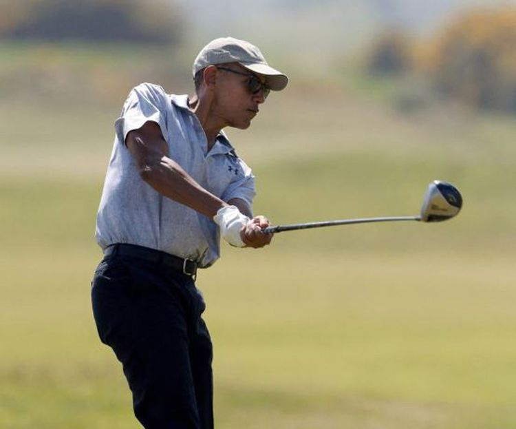 Barack Obama est aussi un golfeur assidu.