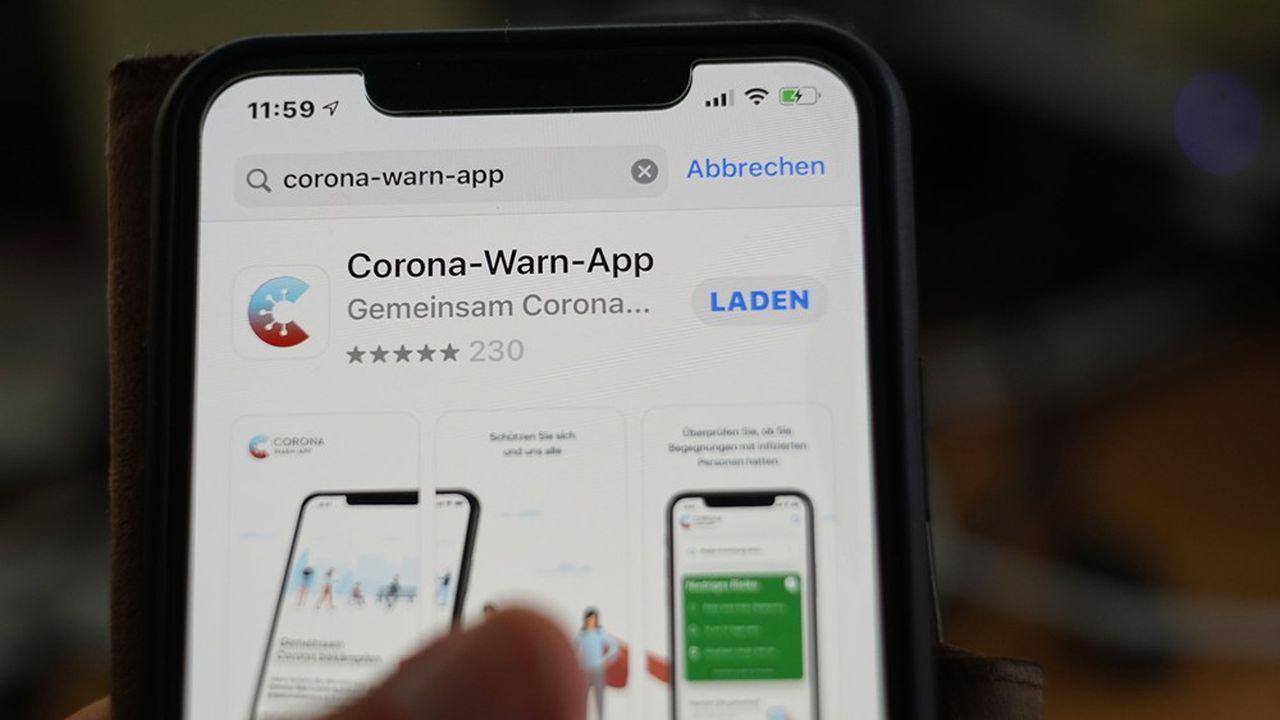 L'application allemande pour smartphone destinée à freiner la propagation du nouveau coronavirus a été téléchargée à 9,6millions d'exemplaires depuis son lancement mardi dernier.