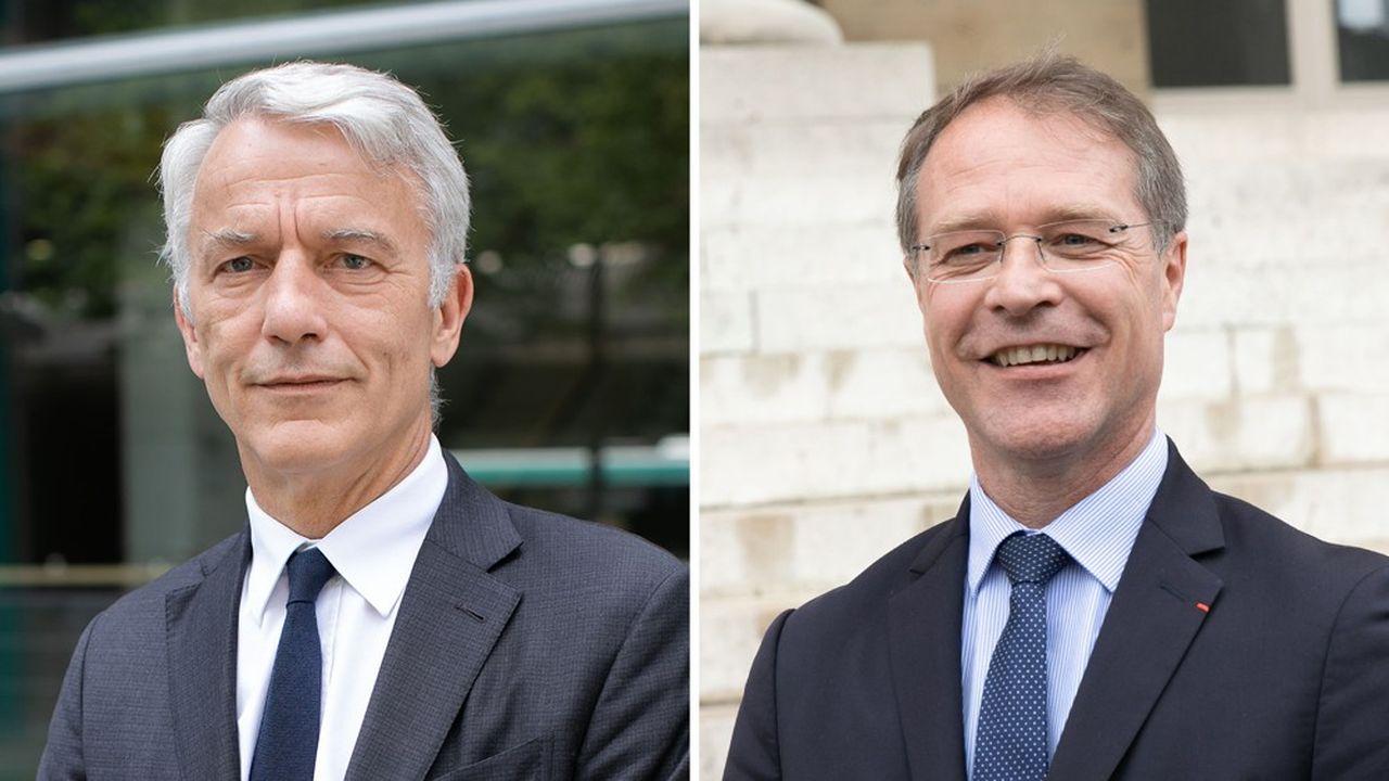 Patrick Martin, le président délégué du Medef, et François Asselin, le président de la Confédération des PME (CPME).