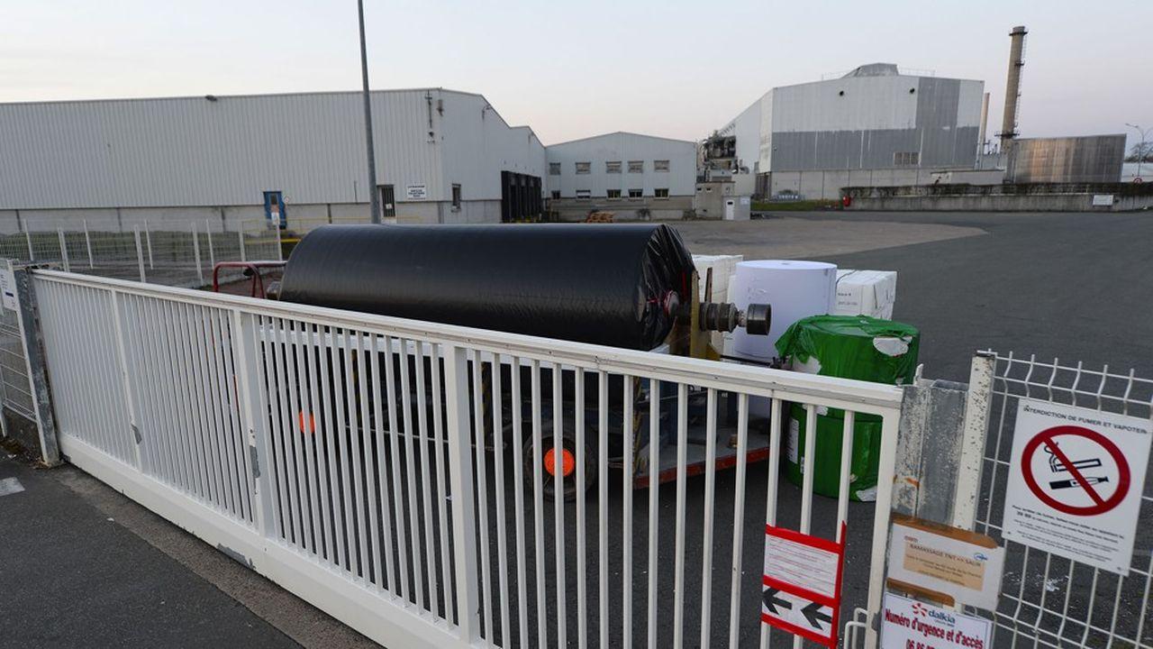 Blocage de l'usine de Bessé-sur-Braye, en mars2019, suite à l'annonce de la liquidation.