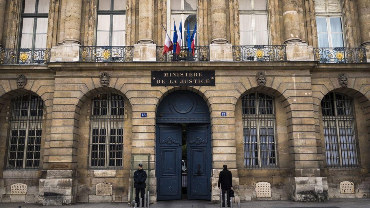 Le ministère de la Justice, à Paris.