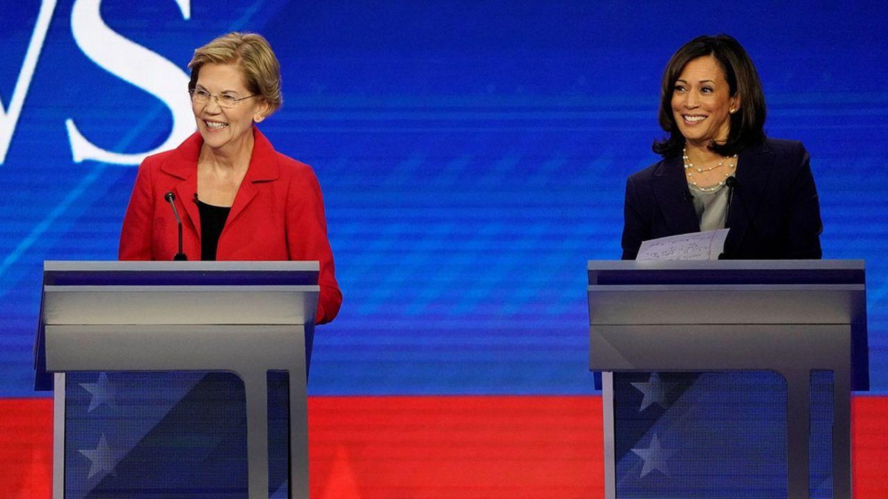 «Je veux quelqu'un de fort», plaide Joe Biden. Un argument pour ses anciennes concurrentes de la primaire Kamala Harris et Elizabeth Warren.
