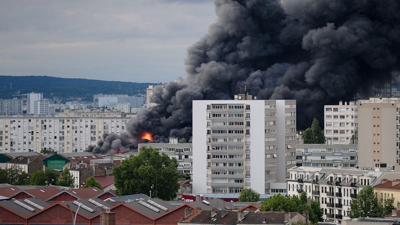 Un incendie s'est déclenché à Aubervilliers le dimanche 26mai