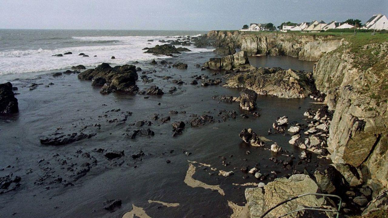 Le 26décembre 1999, le mazout provenant des cuves de l'Erika a recouvert une partie du littoral de Loire-Atlantique. Cette catastrophe est à l'origine du principe juridique de «préjudice écologique» qui vaudra au groupe Total d'écoper d'une amende très lourde.