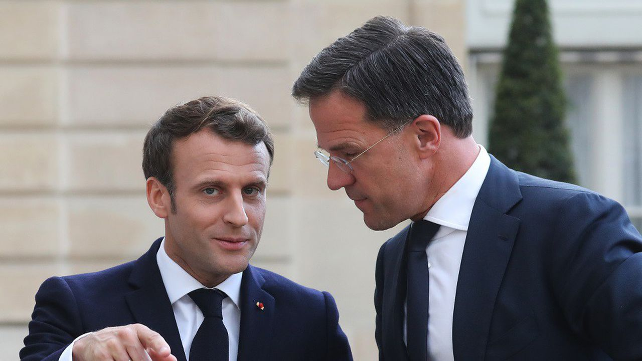 Emmanuel Macron a partagé un dîner de travail mardi avec le Premier ministre néerlandais Mark Rutte.