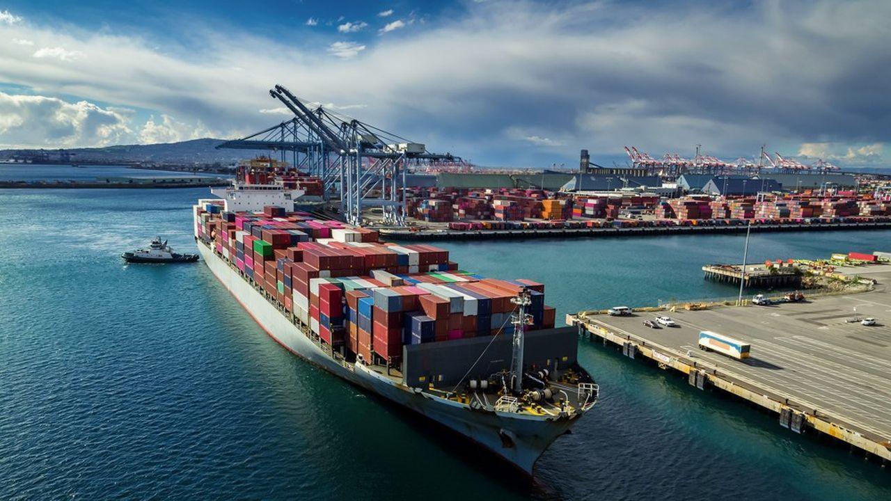 Le trafic de containers, comme ici en Californie, a repris au cours des dernières semaines, observe l'OMC.