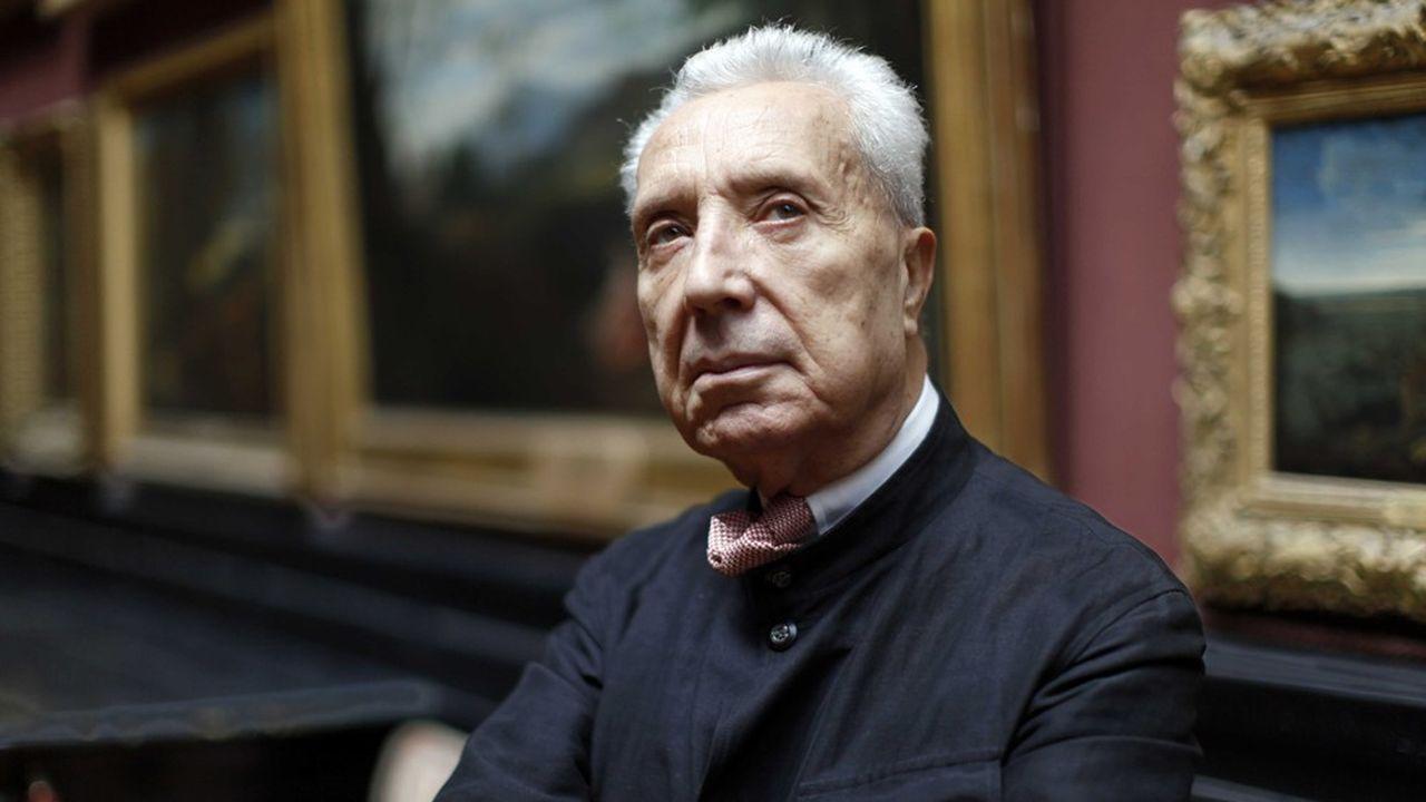 Marc Fumaroli, historien, essayiste et académicien français, au Château de Chantilly dont il connait l'histoire sur le bout des doigts.