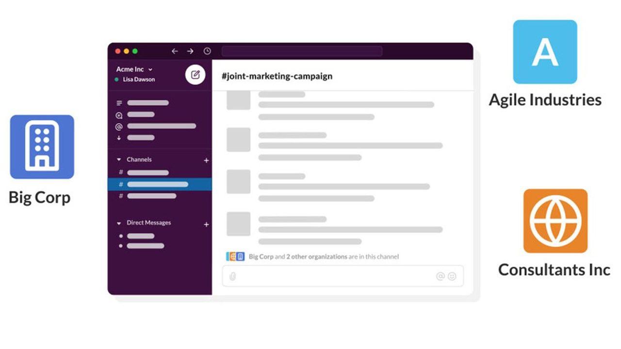 Depuis septembre, deuxentreprises pouvaient déjà échanger sur un même canal Slack plutôt que de s'envoyer des e-mails.