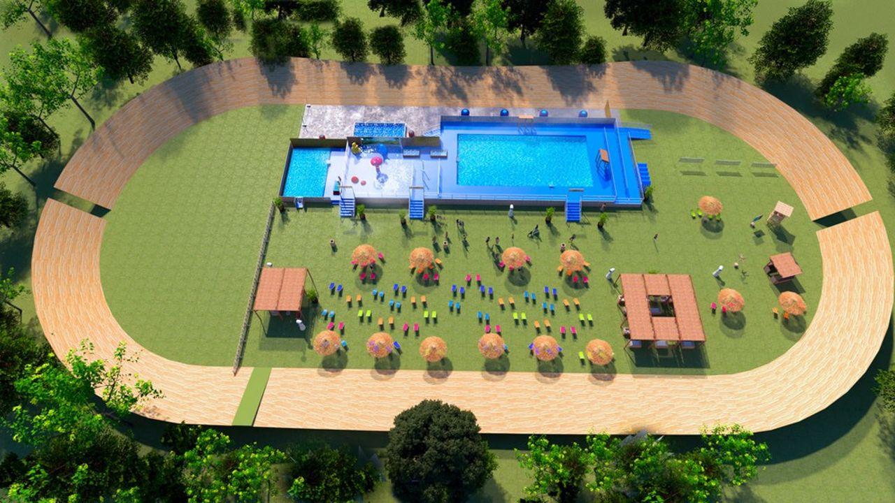Une nouvelle piscine sera nichée au coeur du vélodrome du parc de la Tête d'or.