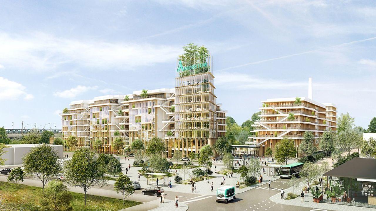 Le projet Arboretum à Nanterre, dans les Hauts-de-Seine.