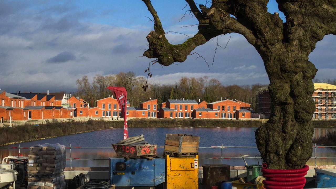 Chantier de construction de la future marina de L'Isle Adam.