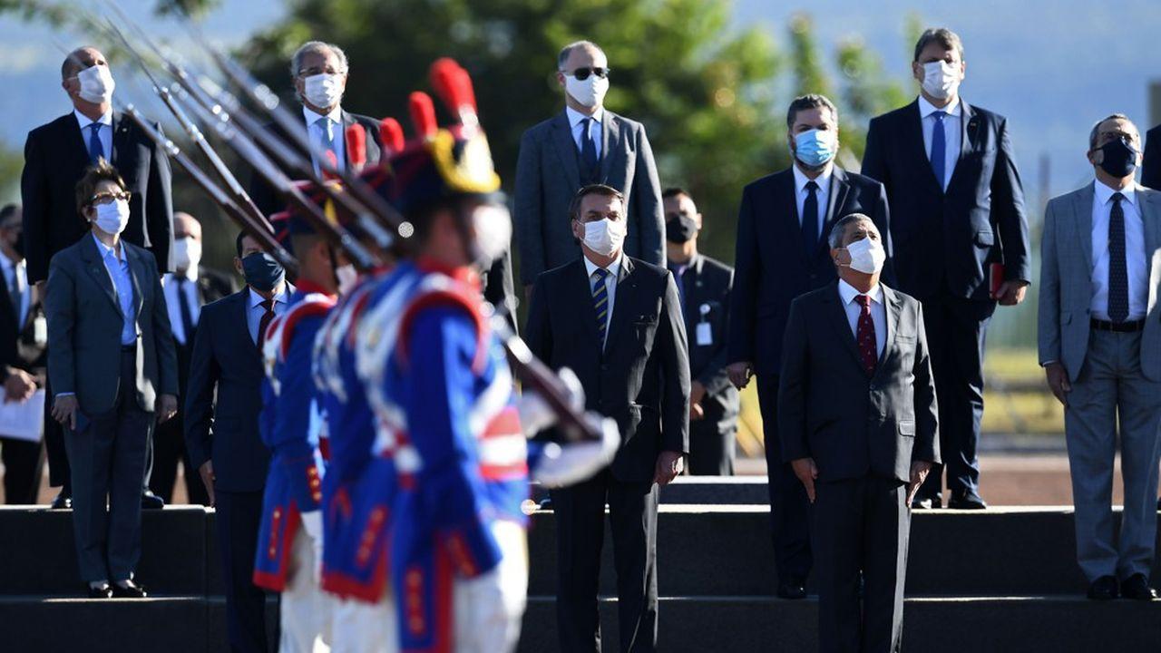 Jair Bolsonaro était la cible de critiques sur le manque de diversité au sein de l'exécutif.