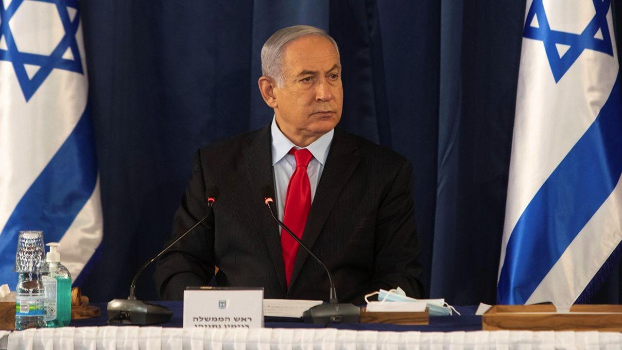 Le Premier ministre israélien lors d'une réunion du cabinet à Jérusalem le 14juin. Benyamin Netanyahu envisage d'annexer 30% de la Cisjordanie.