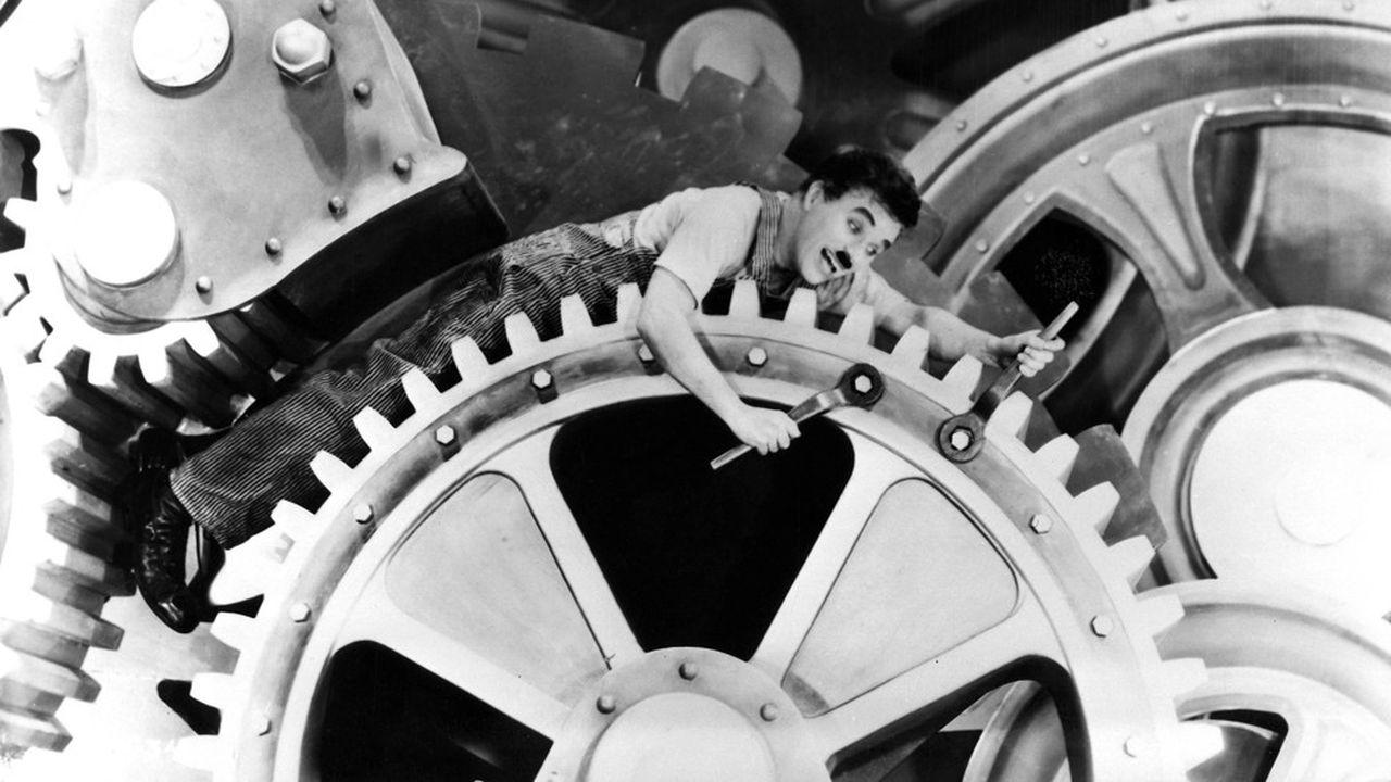 Charlie Chaplin, Les Temps Modernes.