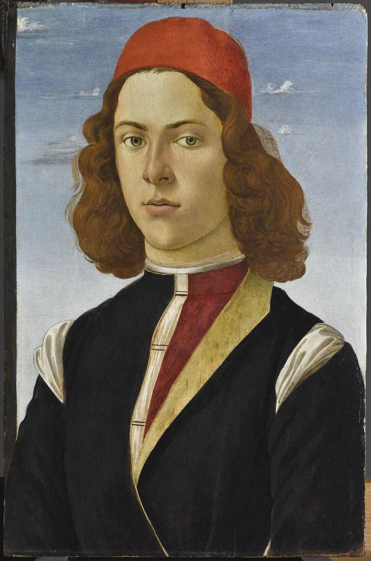 «Portrait de jeune homme»de Sandro BOTTICELLI (et de son atelier) vers 1485.