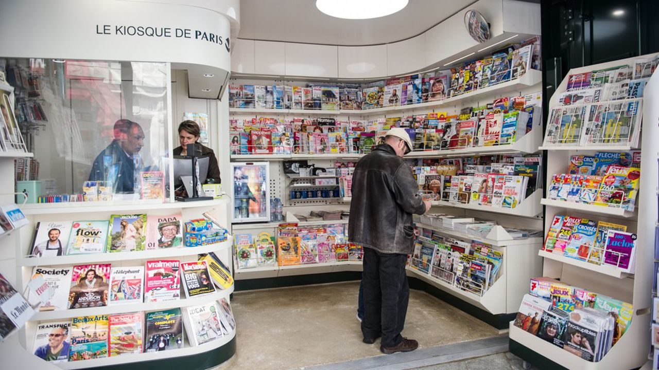 Le système de distribution de la presse vers les points de vente comme ce kiosque a bien failli s'écrouler ces dernières semaines.