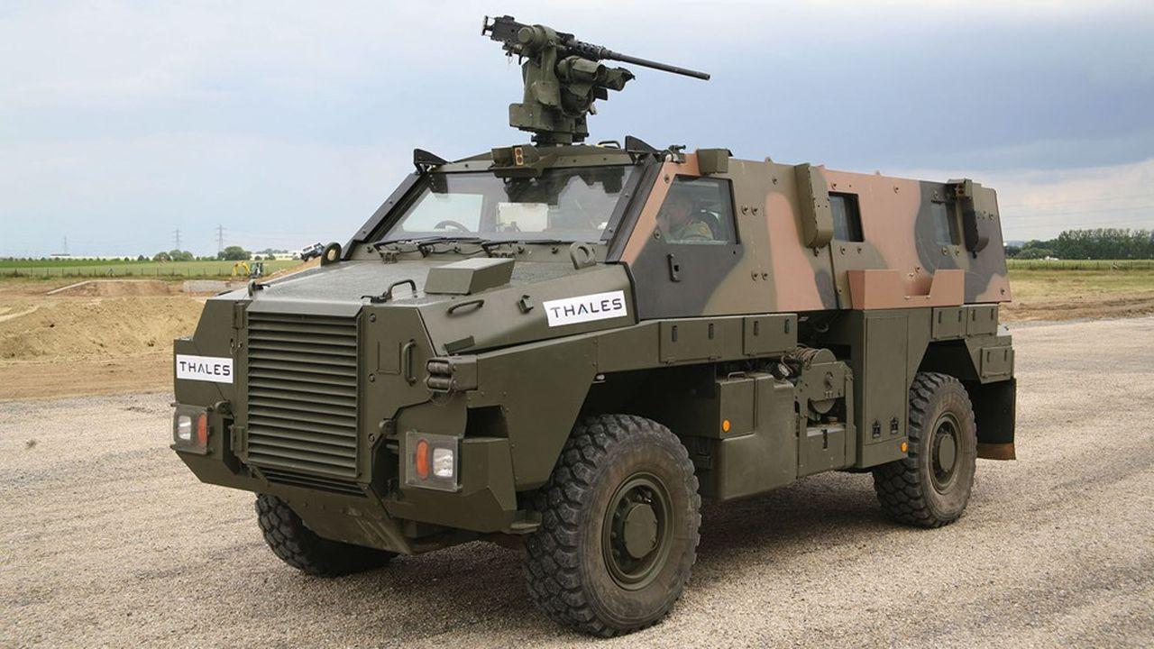 En chiffre d'affaires, l'Australie est au deuxième rang dans la branche défense de Thales, avec la production de blindés, de munitions, de senseurs et de systèmes de commandements.