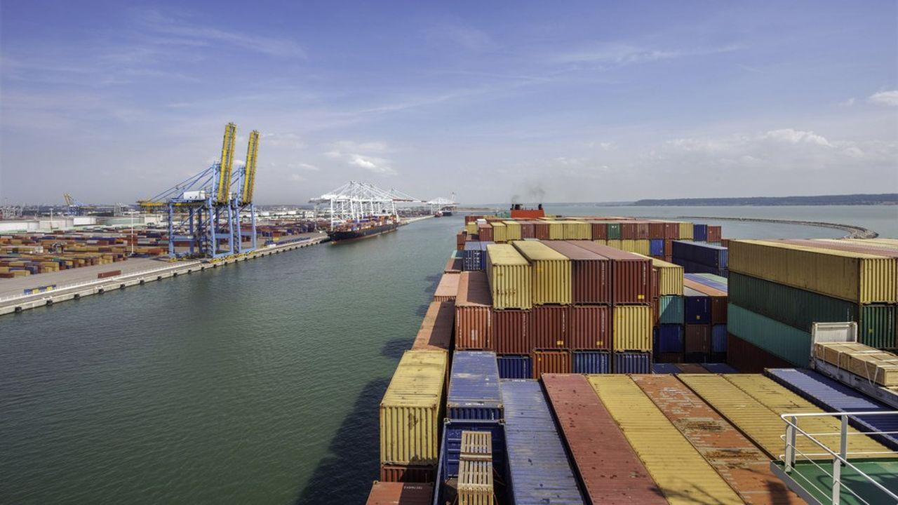Le port du Havre, en Normandie.