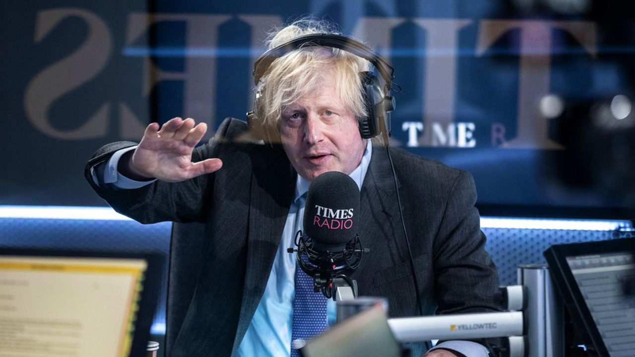 Le Premier ministre, Boris Johnson lors de son interview sur Times Radio le 29 juin.