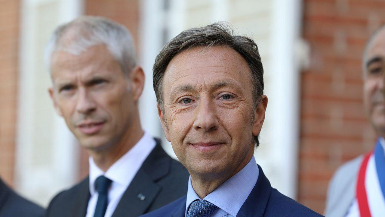 Depuis 2018, 390 projets ont été sélectionnés par la mission menée par le ministre Franck Riester (à g.) et l'animateur Stéphane Bern (au c.).