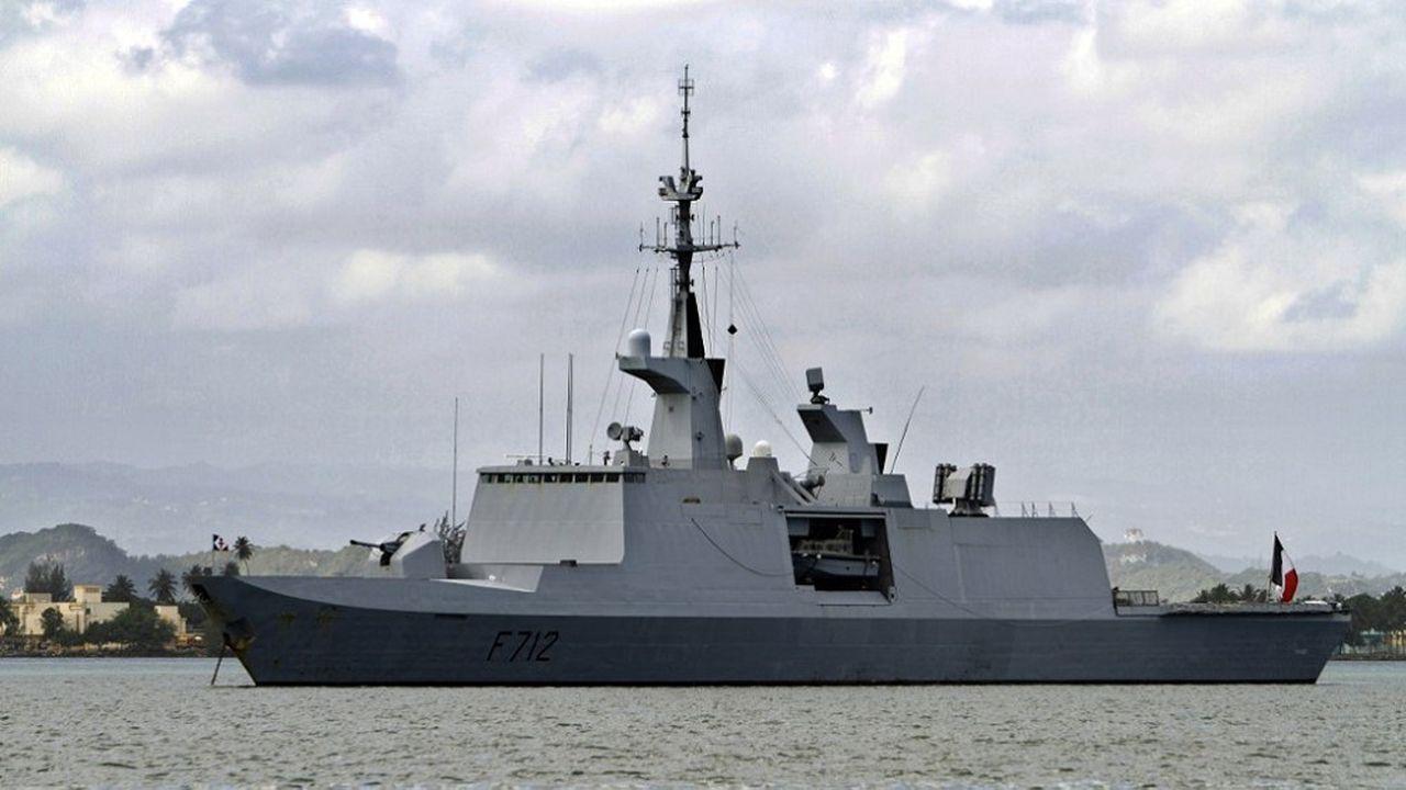 La frégate française «Courbet» a été menacée par une frégate turque en Méditerranée début juin.