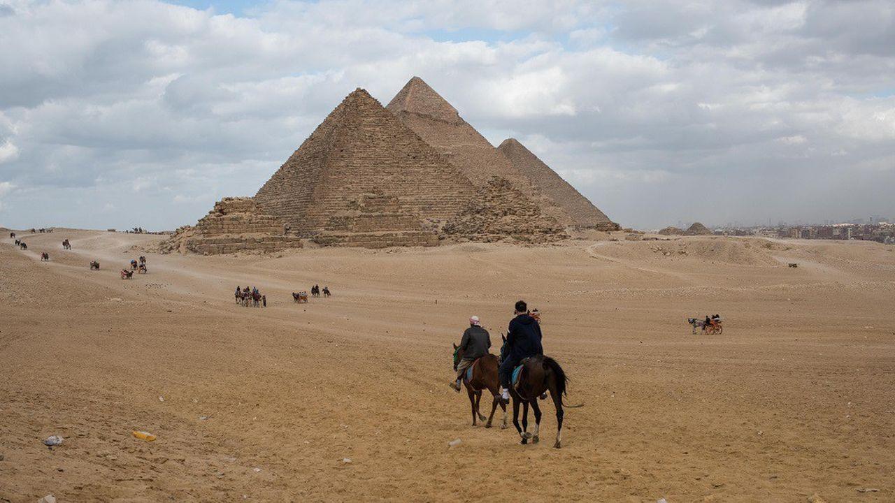 Photo d'illustration montrant la pyramide de Gizeh en Egypte.