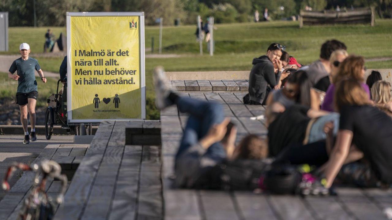 Malmo, Suède, mai 2020 : «même plus modestes, les mesures de lutte contre l'épidémie prises en Suède contre le virus ont eu un effet négatif sur son économie»