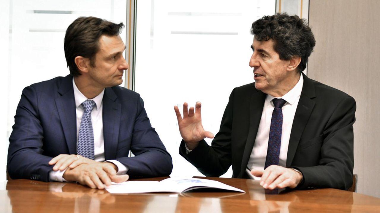 « La sortie de crise va se faire par l'innovation », affirme Philippe Véron (à gauche, avec Alain Duprey, son directeur général), président de l'Association des instituts Carnot.