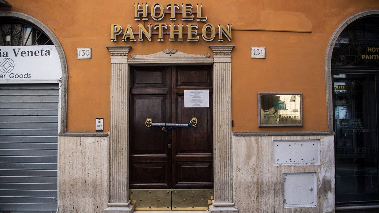 A Rome, 9 hôtels sur 10 sont toujours portes closes.