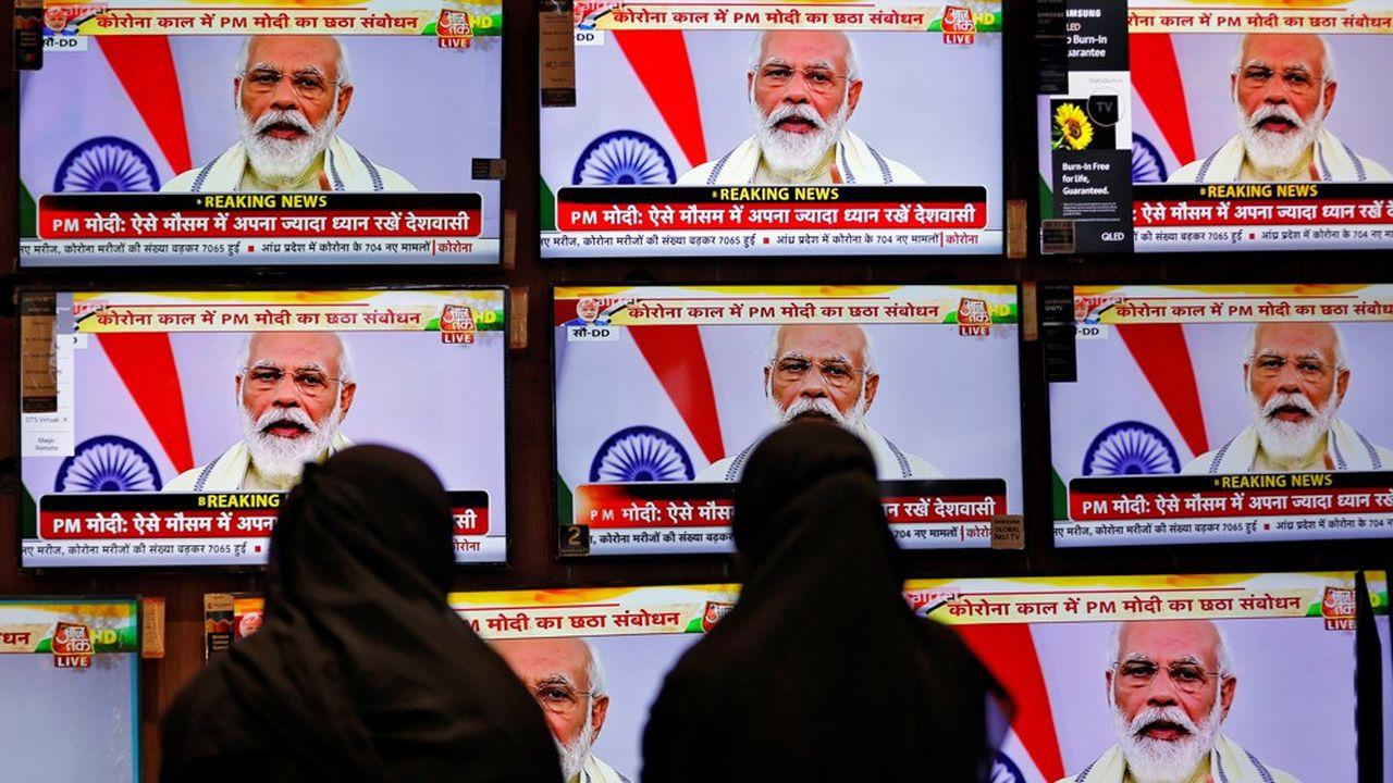Le Premier ministre indien, Narendra Modi, s'est adressé à la Nation, mardi.