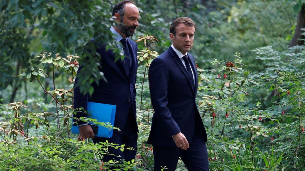 L'écart se creuse encore entre la cote de confiance d'Edouard Philippe, à 43%, et celle d'Emmanuel Macron, à 35%.